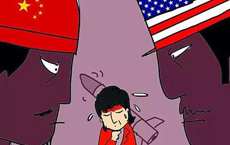 들끓는 중국 '한국=미국 개' 만평 등장