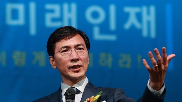 '미래인재 컨퍼런스' 축사하는 안희정