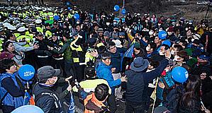 '사드 반대' 시민과 경찰 충돌... 원불교 천막 강제 철거