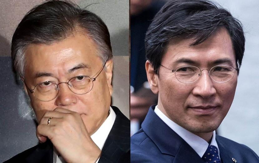 문재인 '대세론'이냐  안희정 '충청대망론'이냐