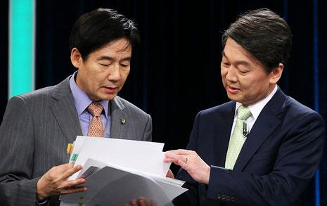 '참혹한 성적표' 안철수  TV토론 전략 바꾼다