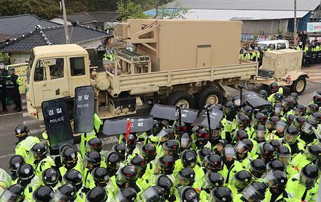 사드 배치 반대 주민 막은  경찰 대규모 포상 논란