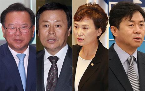 행자 김부겸, 문화 도종환  국토 김현미, 해양 김영춘