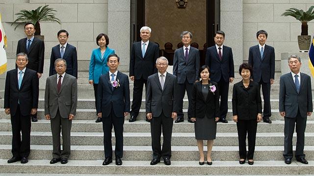 한 자리 모인 대법관