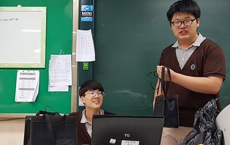 '사이렌' 소리로 수업하는 교사, 여기서만 봅니다