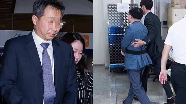 문성근-김여진 합성사진 관련 국정원 직원 구속영장실질심사