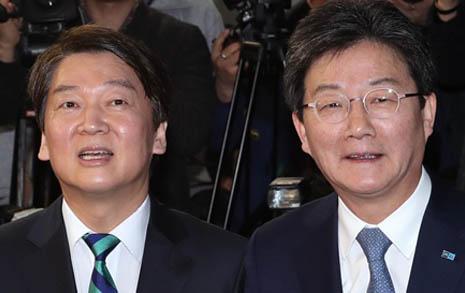 """""""국민 생각하며 바른 길"""" 안·유, """"문재인 실패"""" 강조"""