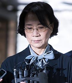 '구속 위기' 이명희 초췌, 추가 '욕설 영상'엔 침묵