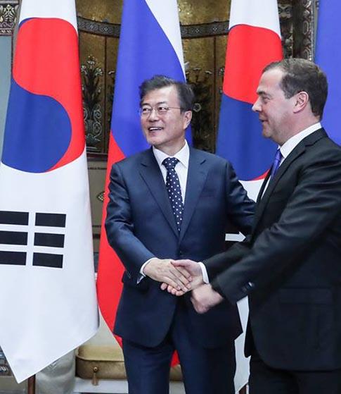'남북러 3각 경제협력'  러시아 총리 적극 호응