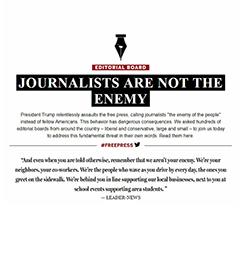 미국 신문들,  사설로 연대하다