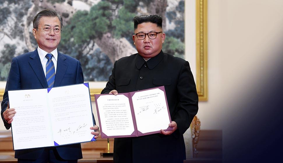 - 미사일 발사대 참관 하에 폐기 - 김정은 위원장 올해 서울 방문 - 2032년 남북공동 올림픽