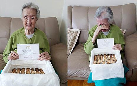 """""""북한대통령이 미안하다 보낸 선물""""  고향 생각에 눈물 흘린 95세 할머니"""
