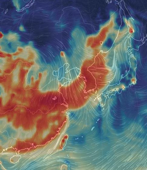 중국발 미세먼지,  일본은 한 발 빨랐다