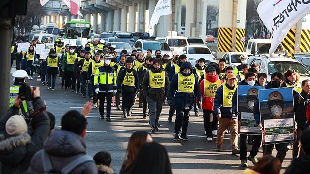 '일하다 죽지 않는 나라'를 위한 행진