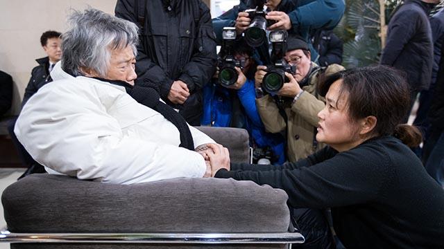 백기완 소장, 고 김용균 어머니 위로
