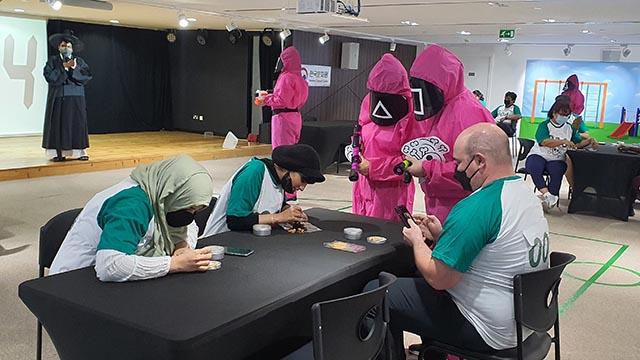중동서도 '오징어 게임' 체험 행사