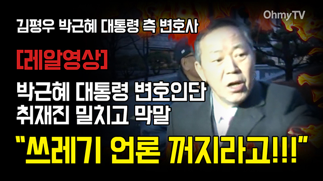 """[레알영상] 박 대통령 변호사 김평우 """"쓰레기 언론 꺼지라고!!!"""""""