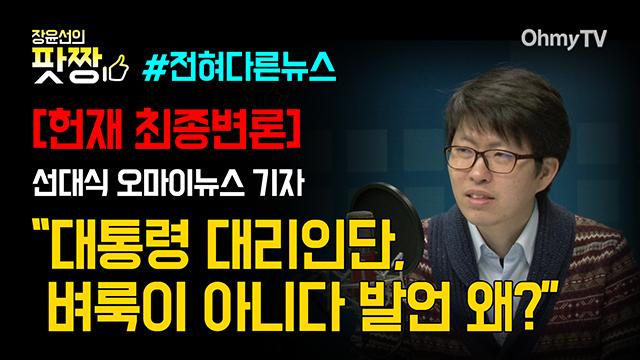 """[헌재 최종변론] 선대식 """"대통령 대리인단, 벼룩이 아니다 발언 왜?"""""""