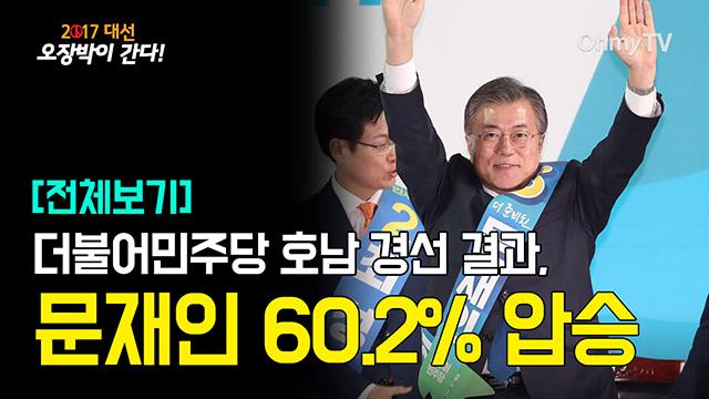 [전체보기] 더불어민주당 호남 경선 결과, 문재인 60.2% 압승