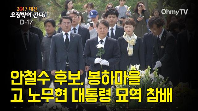 안철수 후보, 봉하마을 고 노무현 대통령 묘역 참배