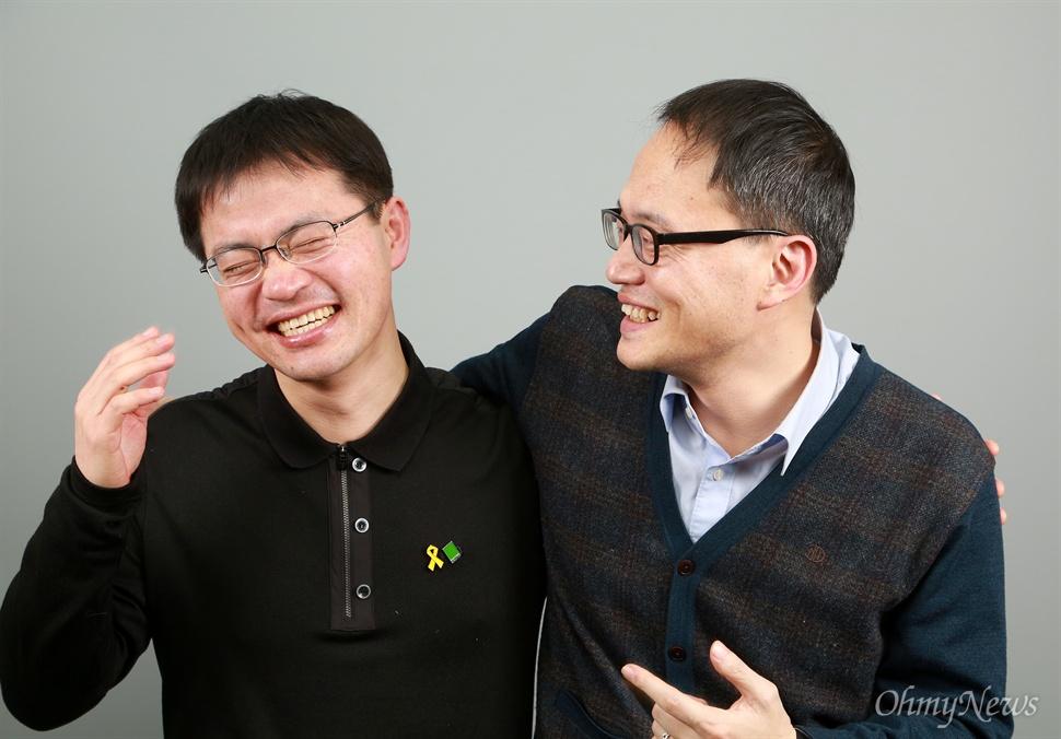 더불어민주당 박주민 변호사와 녹색당 이계삼 밀양송전탑반대대책위 사무국장.