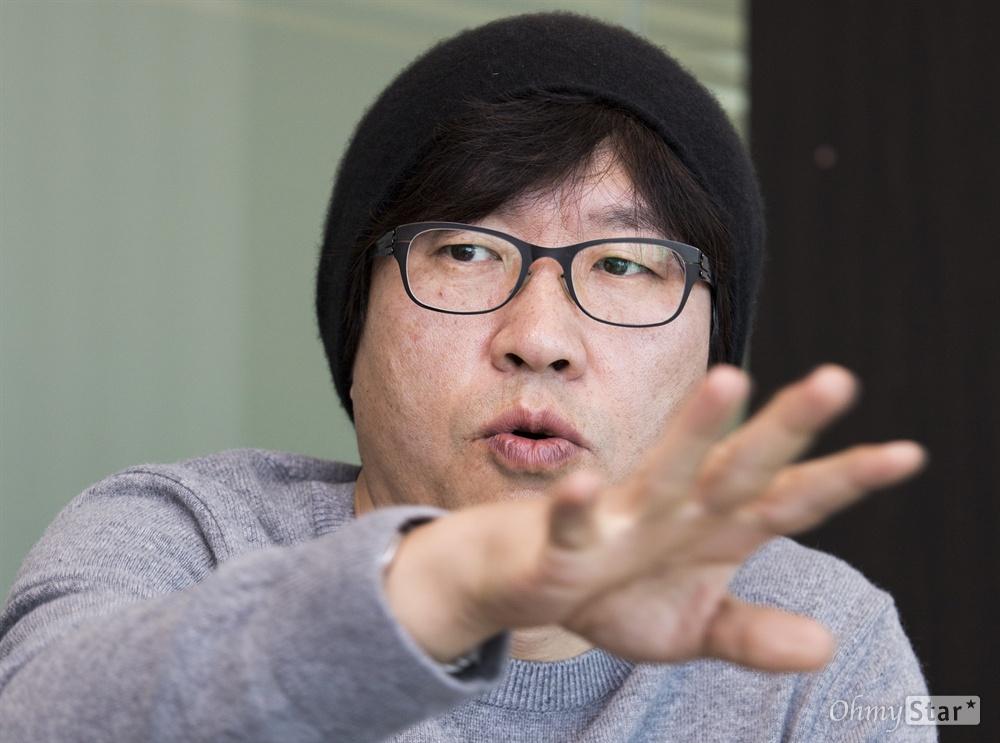 원전(핵발전소) 사고 재앙을 다룬 영화 <판도라> 박정우 감독.