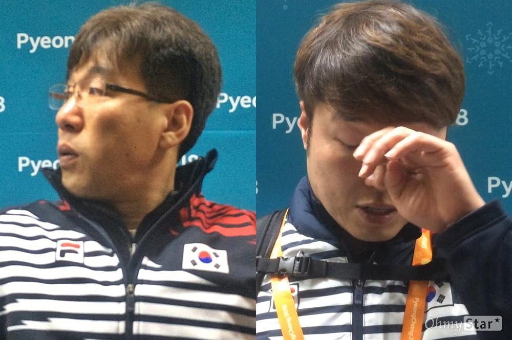 평창동계패럴림픽 한국 휠체어컬링 대표팀이 17일 캐나다와의 동메달 결정전에서 패해 4위를 기록했다. 경기 직후 스킵 서순석 선수(왼쪽)와 백종철 감독이 눈물을 흘리고 있다.