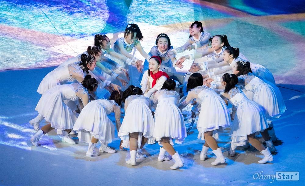 동계패럴림픽 다음 개최지 베이징 공연 18일 오후 강원도 평창올림픽 스타디움에서 열린 2018평창동계패럴림픽 폐회식에서 다음 개최지 중국 베이징을 알리는 공연이 펼쳐지고 있다.