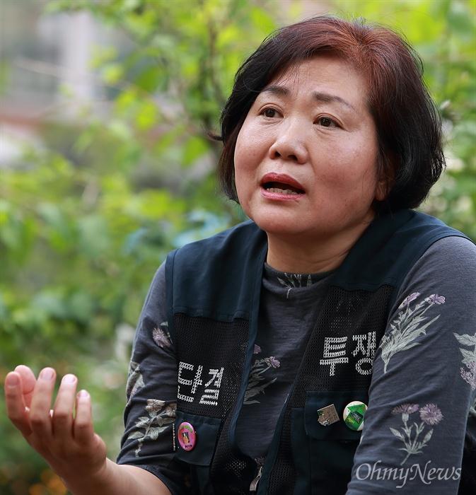 개포8단지상가철거민대책위 김민수 위원장.