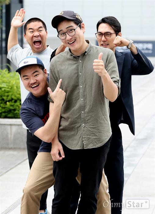 영화 <튼튼이의 모험>의 고봉수 감독, 배우 김충길 배우 백승환, 배우 신민재