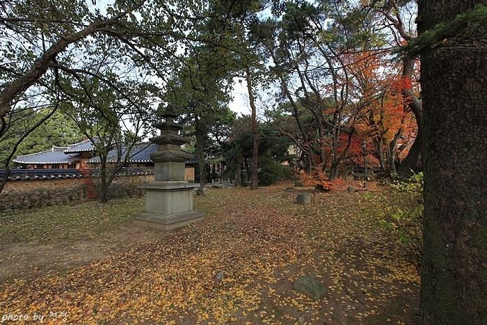 건재고택 정원  우리 전통 정원 방식과 일본 정원 방식이 섞여 있다.