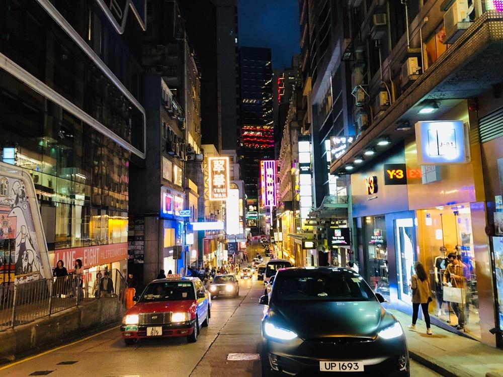 홍콩 밤거리
