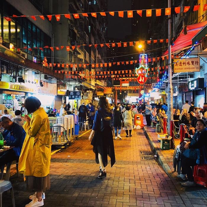 몽콕 야시장 홍콩의 밤거리
