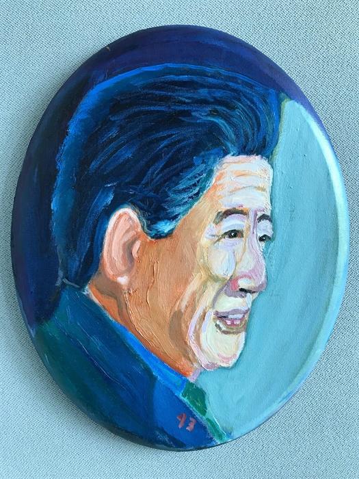 부시 전 미국 대통령이 그린 노무현 대통령 초상화.