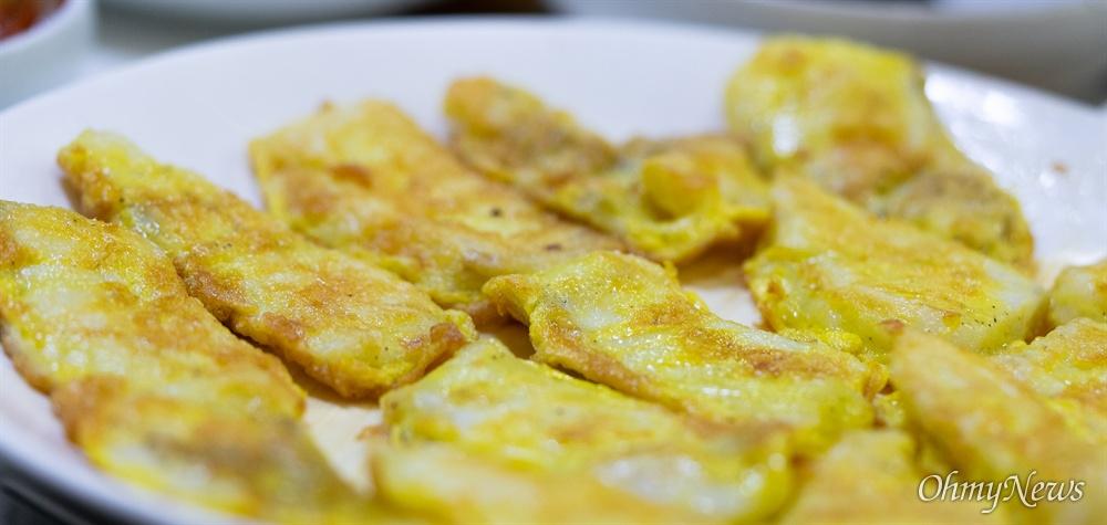 생선을 맛있게 먹는 방법은 회만이 아니다. 소금구이도 맛있지만, 그보다 맛있게 먹는 방법은 생선전이다.