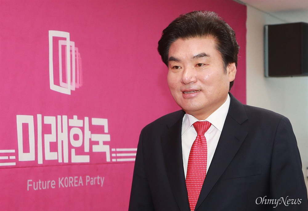 미래한국당 원유철 대표가 20일 오전 서울 영등포구 당