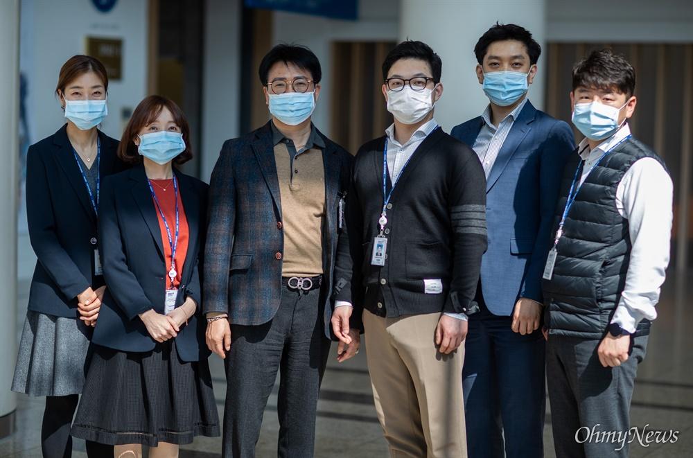분당서울대병원의 의료진들을 돌보는 산업안전보건관리실 직원들.