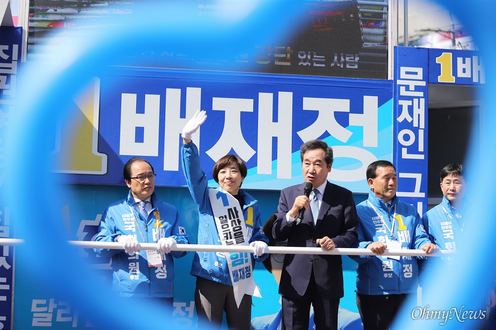 이낙연 더불어민주당 상임공동선대위원장이 8일 격전지인