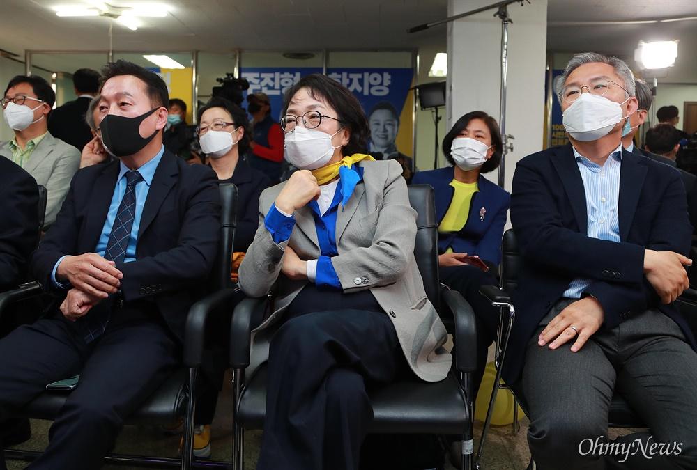 21대 총선 투표일인 15일 오후 서울 여의도 열린민주