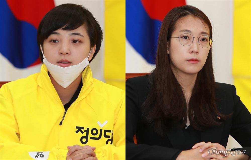 류호정-장혜영 당선인, 정의당 선대위 해단식 참석