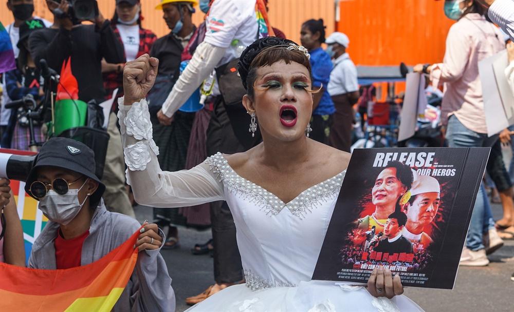 군부쿠데타에 반대하는 '시민 불복종 운동'이 연일 벌어지고 있는 미얀마의 2월 19일 모습. 현지 사진기자 모임인 'MPA(Myanmar Pressphoto Agency)'가 찍어 보내온 사진이다.