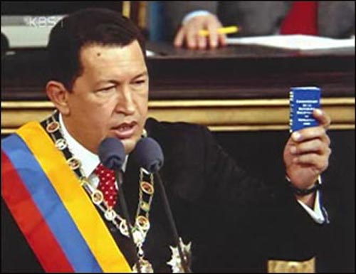 우고 차베스 베네수엘라 대통령.