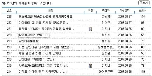 서울시교육청 홈페이지에는 동호정보공업고등학교 폐교 문제를 둘러싼 여러 의견들이 올라오고 있다.