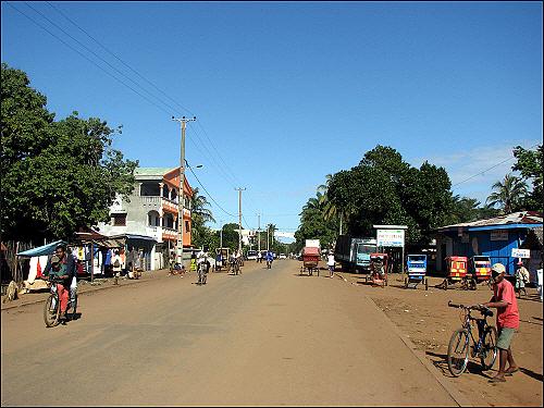 마나카라 시내의 모습
