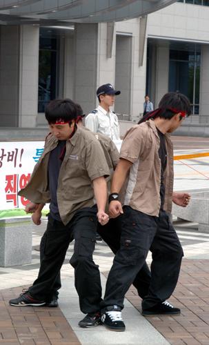 금속노조 대우상용차지회 율동패 '타타'