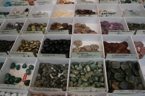 베르체스가덴의 암석. 종류별로 모양과 색상이 각양각색이다.