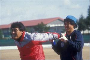 김일융과 김시진 80년대 중반 삼성 라이온즈의 원투펀치 김일융(왼쪽)과 김시진(오른쪽, 현 현대유니콘스 감독)