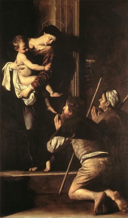 로레토의 성모 마리아 (Madonna di Loreto 1603-1605, Oil on canvas, 125 x 93 cm, Galleria Nazionale d'Arte Antica, Rome, Italy