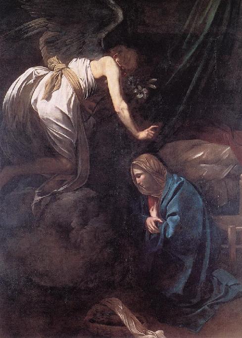 예수나심에 대한 예고(The Annunciation) 1608-9, Oil on canvas, 285 x 205 cm, Musee des Beaux-Arts, Nancy, Lorraine, France