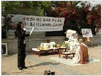 천도제 이천시 시위에서 희생된 돼지에 대한 천도제